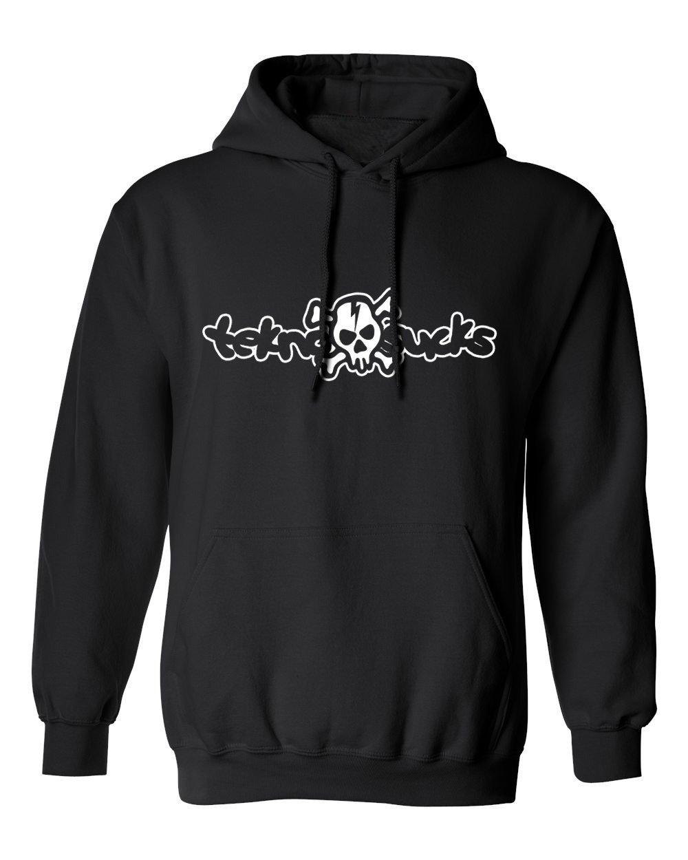 skull-hoodie black